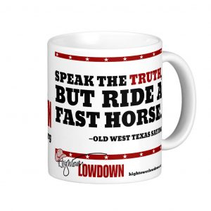 Hightower Lowdown fasthorse_mug