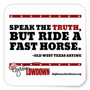 Hightower Lowdown fasthorse_sticker