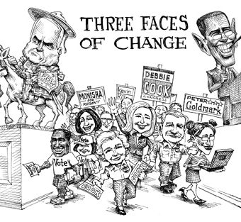 "cartoon showing the ""three faces of change"""