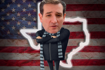 """Ted Cruz's head on the body of Despicable Me's """"Gru"""""""